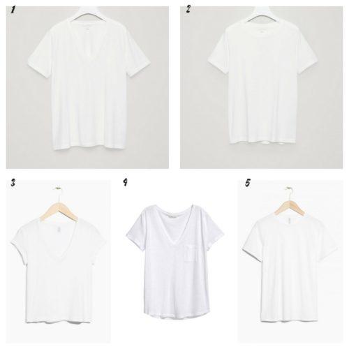 Uniwersalna szafa i moje modowe must- have- 10 bazowych elementów biały t-shirt