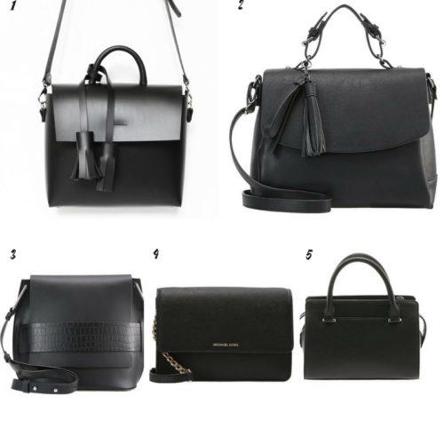 Uniwersalna szafa i moje modowe must- have- 10 bazowych elementów czarna torebka