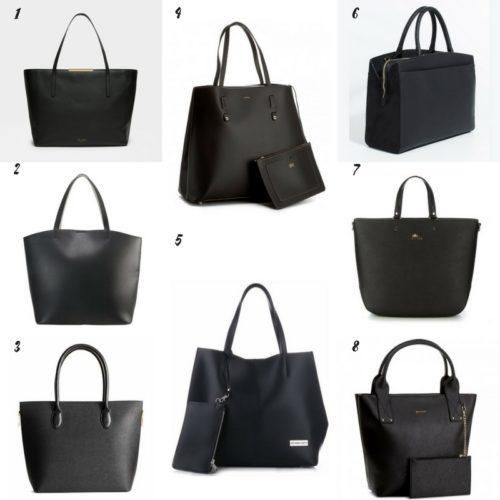 Uniwersalna szafa i moje modowe must- have- 10 bazowych elementów duża czarna torba