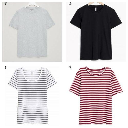 Uniwersalna szafa i moje modowe must- have- 10 bazowych elementów tshirt basic