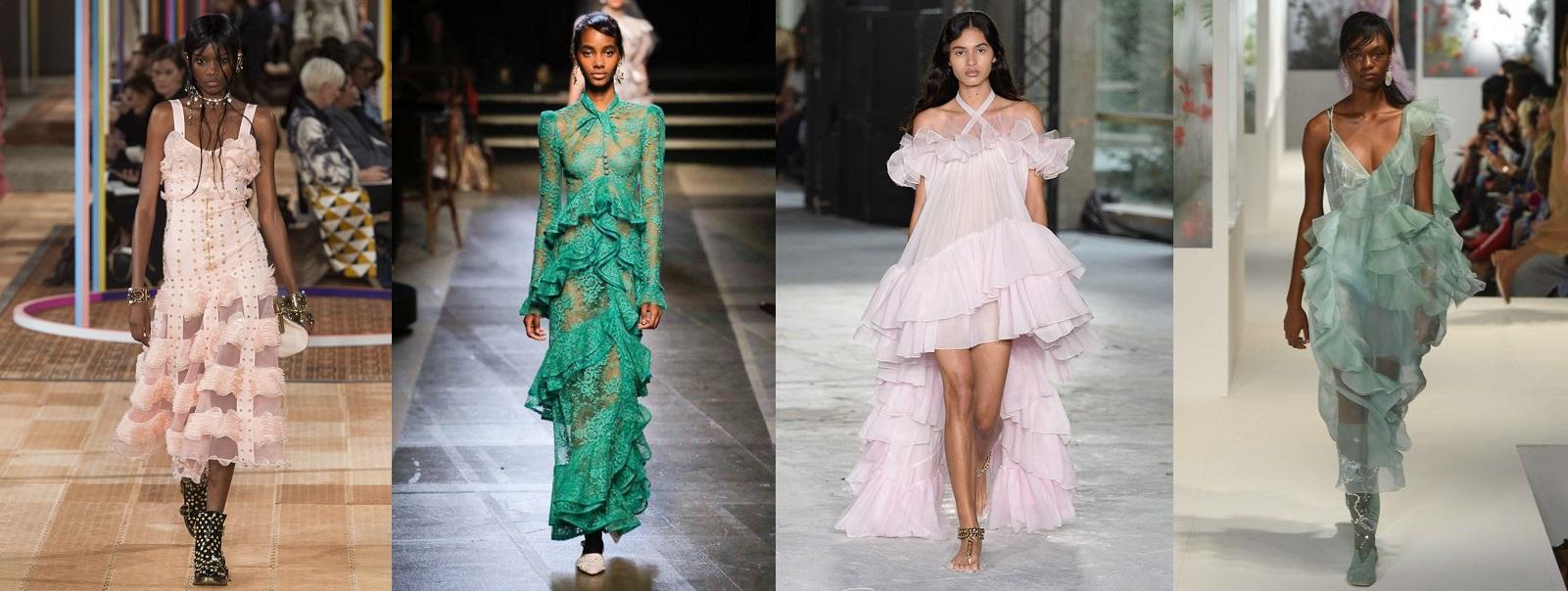 21 trendów na sezon wiosna- lato 2018. falbaniaste sukienki