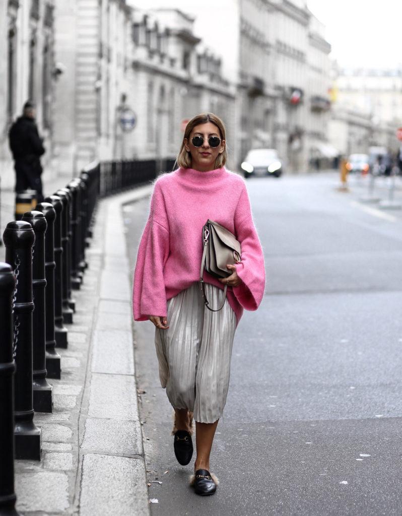 Z czym nosić róż? Intensywny, pudrowy i brudny róż w stylizacjach. pink grey style