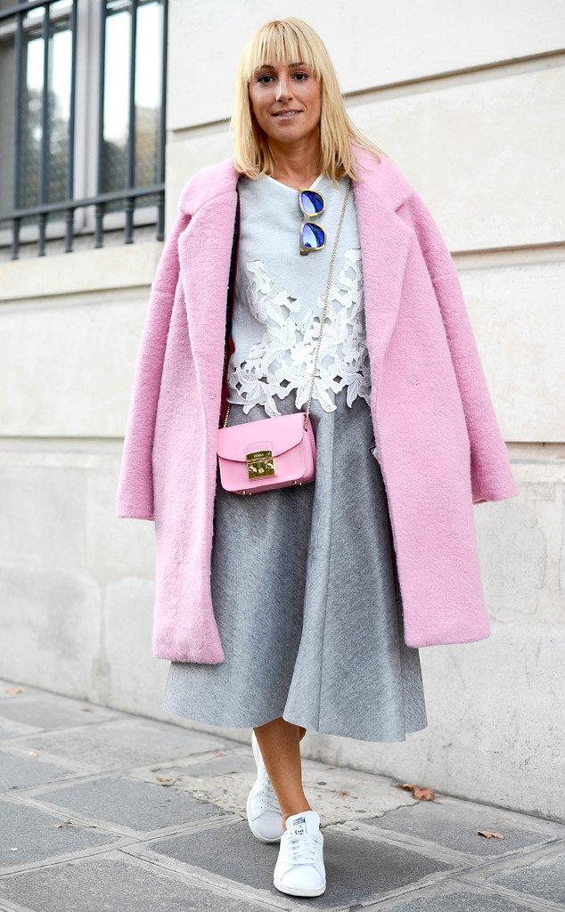 Z czym nosić róż? Intensywny, pudrowy i brudny róż w stylizacjach. pink grey fashion