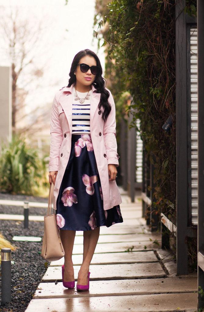 Z czym nosić róż? Intensywny, pudrowy i brudny róż w stylizacjach. pink and navy style