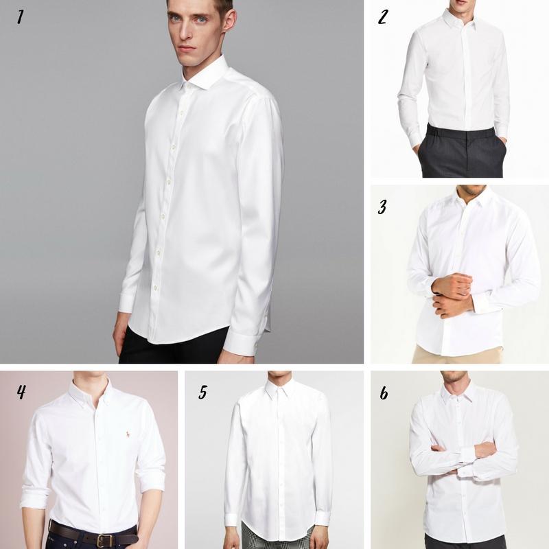 Uniwersalna szafa mężczyzny- 14 bazowych elementów (wiosna-lato). biała koszula