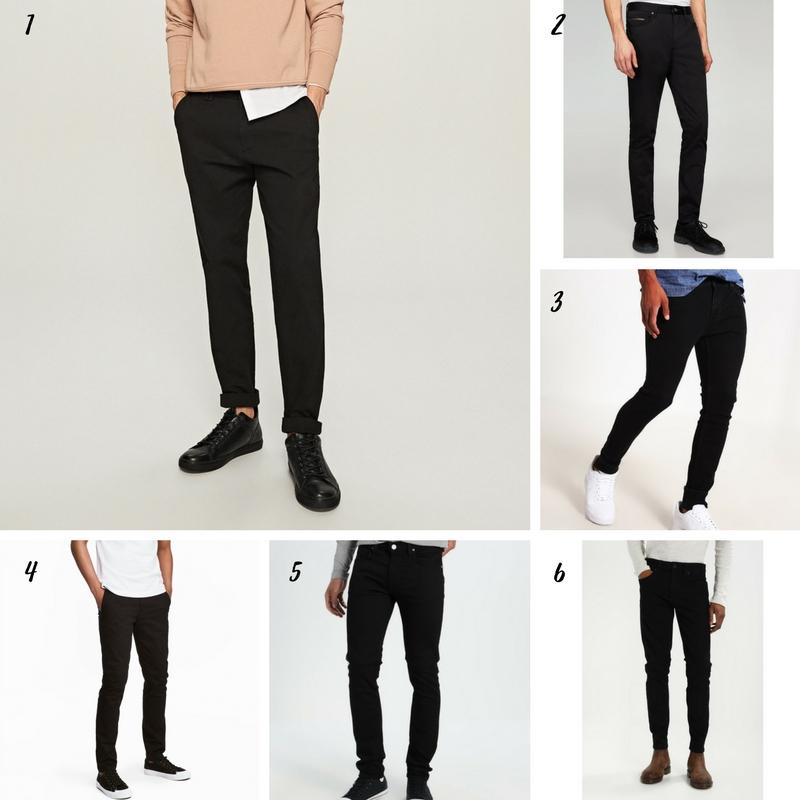 Uniwersalna szafa mężczyzny- 14 bazowych elementów (wiosna-lato). ciemne spodnie