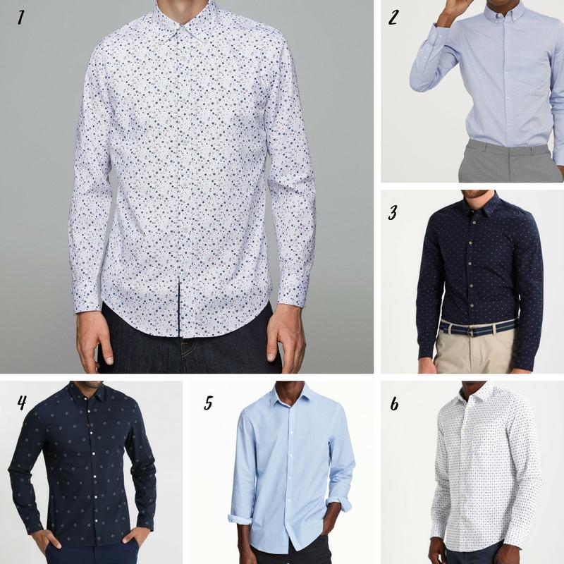 Uniwersalna szafa mężczyzny- 14 bazowych elementów (wiosna-lato). koszula męska