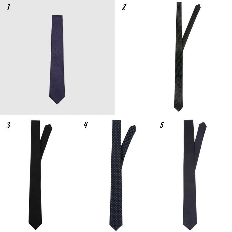 Uniwersalna szafa mężczyzny- 14 bazowych elementów (wiosna-lato). krawat
