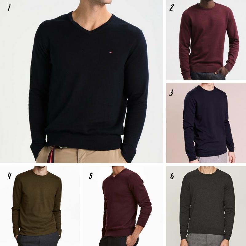 Uniwersalna szafa mężczyzny- 14 bazowych elementów (wiosna-lato). sweter męski