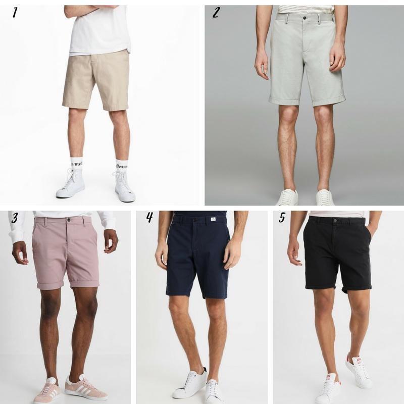 Uniwersalna szafa mężczyzny- 14 bazowych elementów (wiosna-lato). szorty męskie
