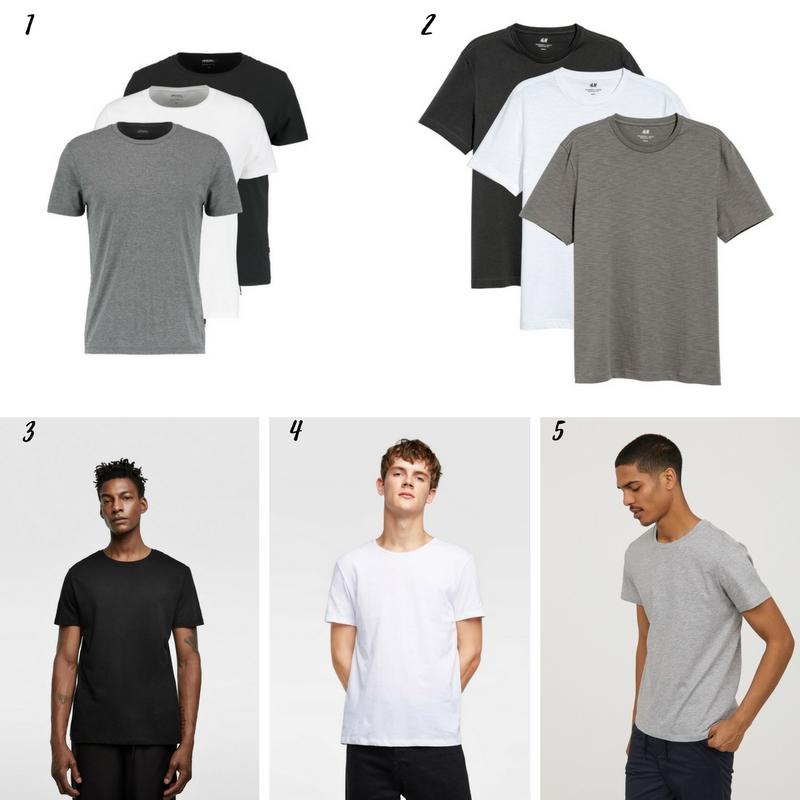 Uniwersalna szafa mężczyzny- 14 bazowych elementów (wiosna-lato). klasyczny męski tshirt